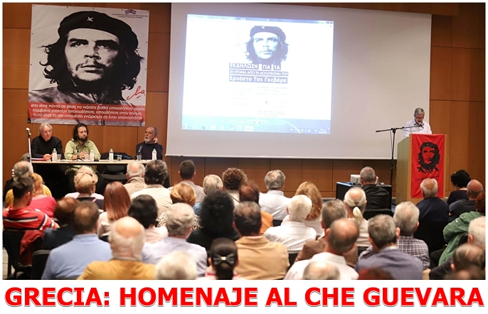 Homenaje a Comandante Che Guevara en Grecia