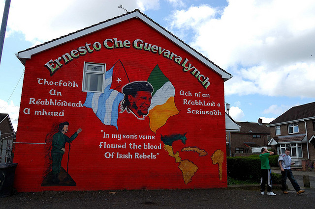 Che Guevara mural in Belfast Northern Ireland