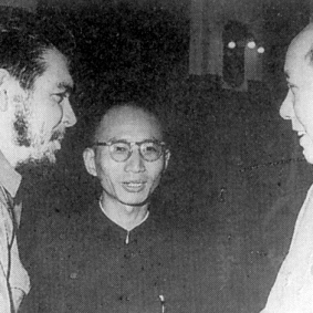 Che Guevara with Mao Zedong in China