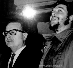 Che Guevara with Salvador Allende photo