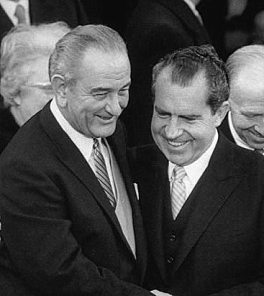 Lyndon Johnson with Richard Nixon