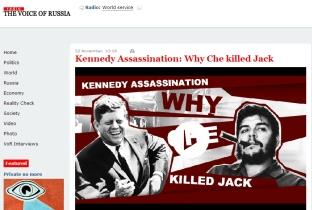 Voice of Russia article JFK Che 2211