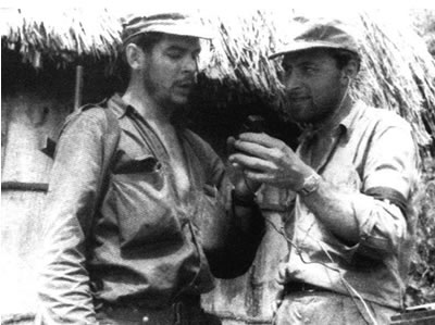 Che Guevara with Jorge Masetti Sierra Maestra